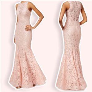 SALE❗️Lace mermaid blush pink formal dress